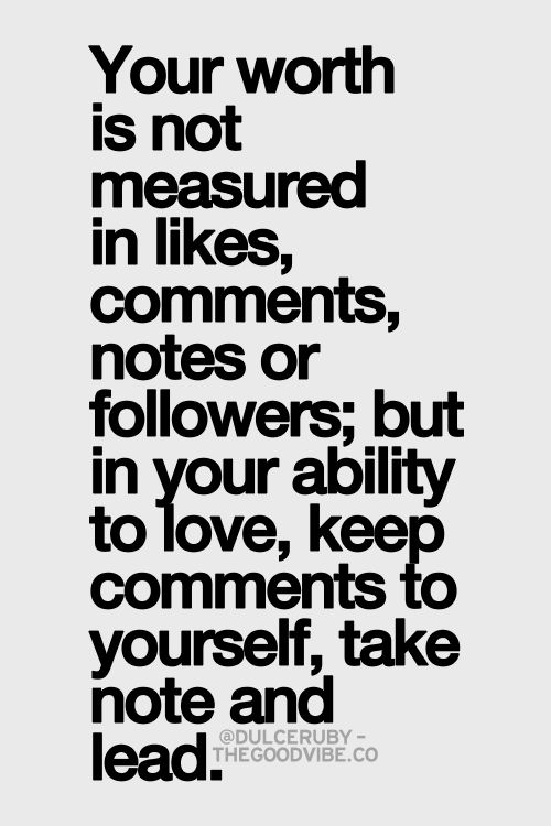 your worth not measured in