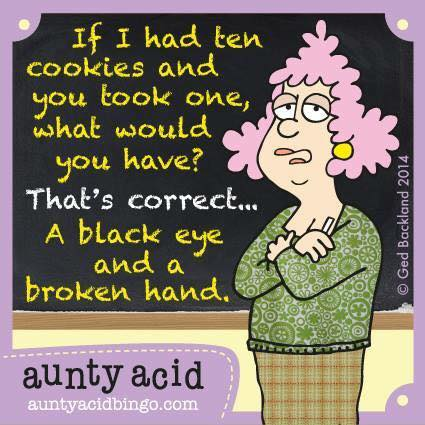 Aunty Acid - ten cookies - black eye