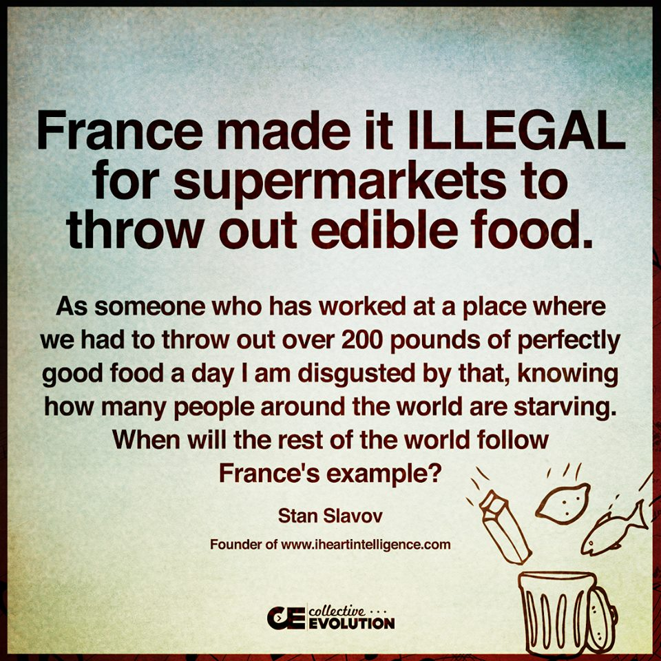 France illegal throw out food