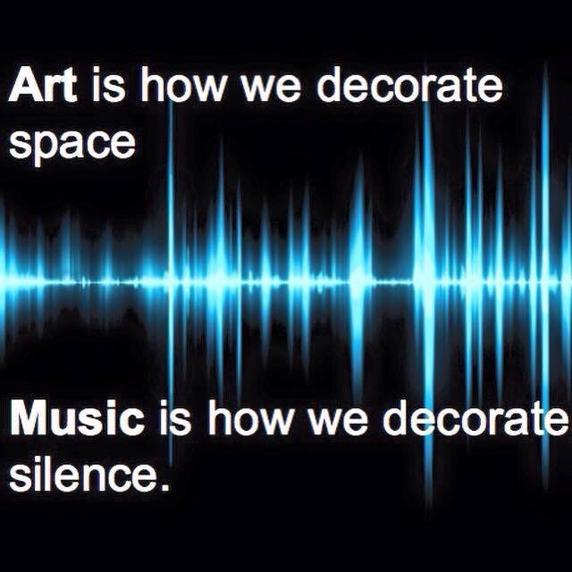 Music decorate silence
