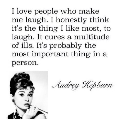 laugh - Audrey Hepburn