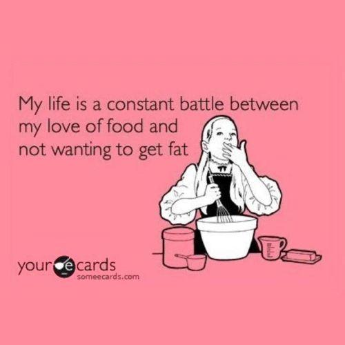 battle love food not fat