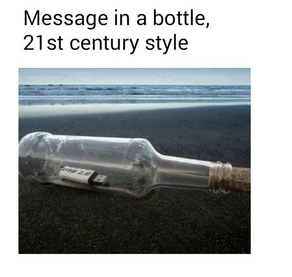 message in a bottle 21st cent