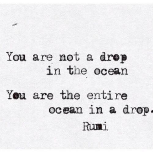 not a drop - the entire ocean