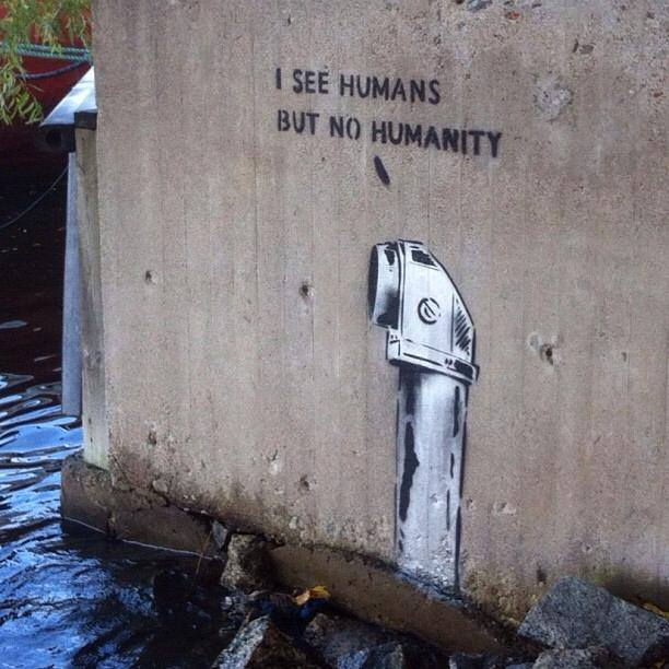 Banksy -humans - humanity