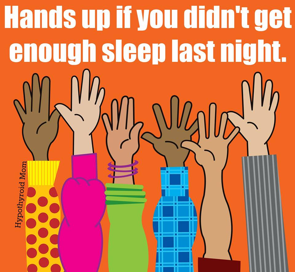 HANDS UP NOT ENOUGH SLEEP