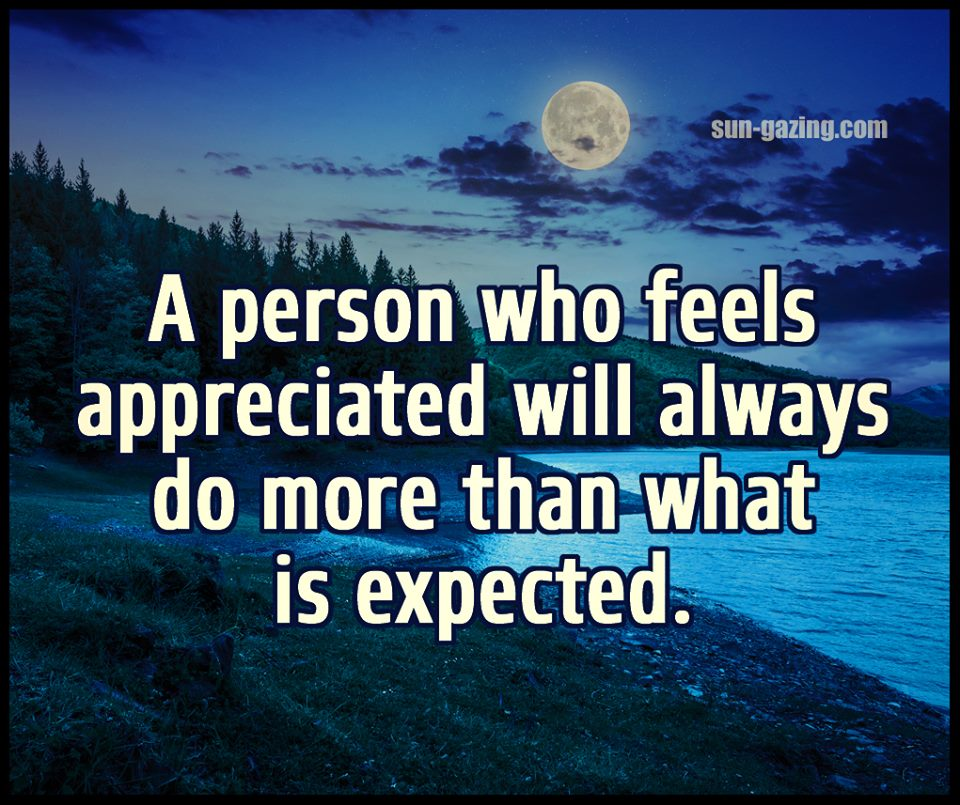 appreciated - more than expected