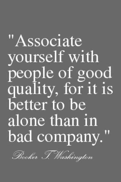 associate with good people