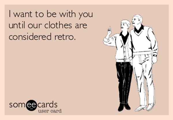 couples together until clothes retro