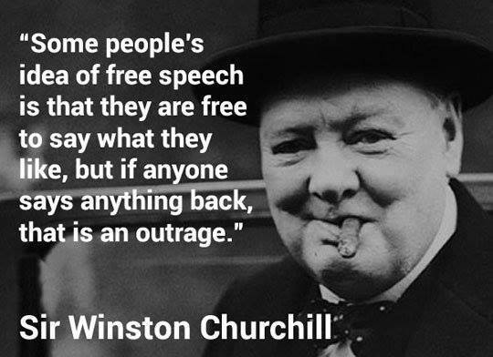 freedom of speech - Churchill