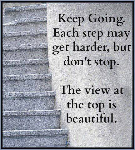 keep going - view at the top