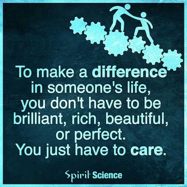 make a difference - care