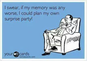 memory worse -plan surprise party