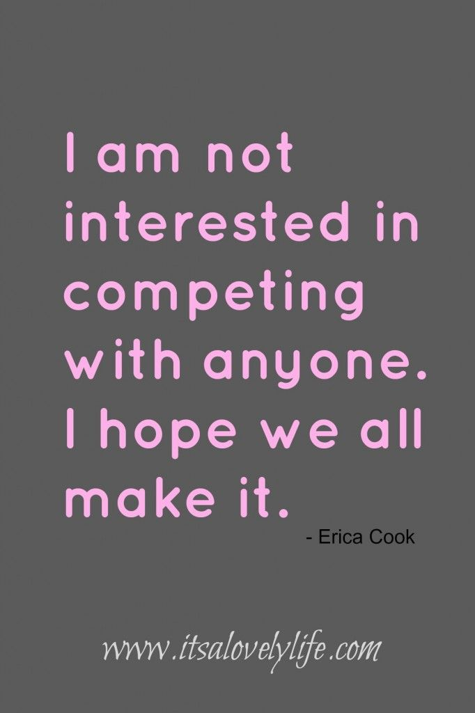not interested competing