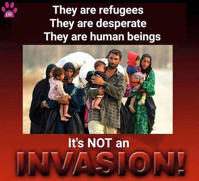 refugees not invasion
