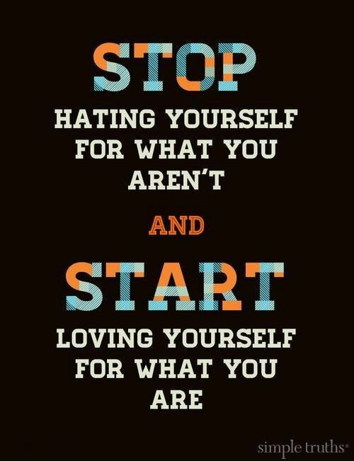 stop hating - start loving