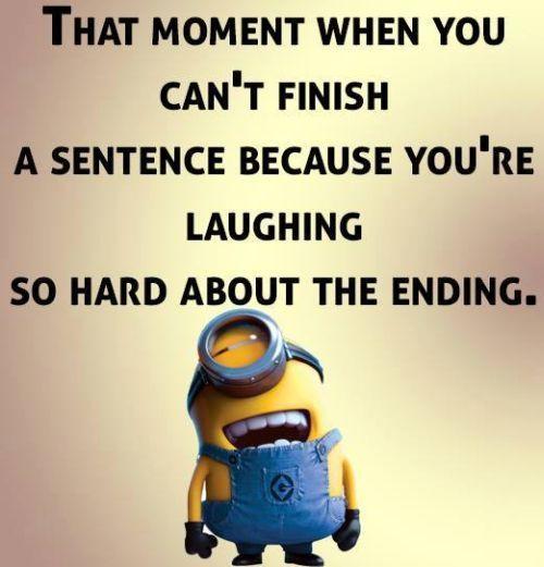 Minion-telling a joke