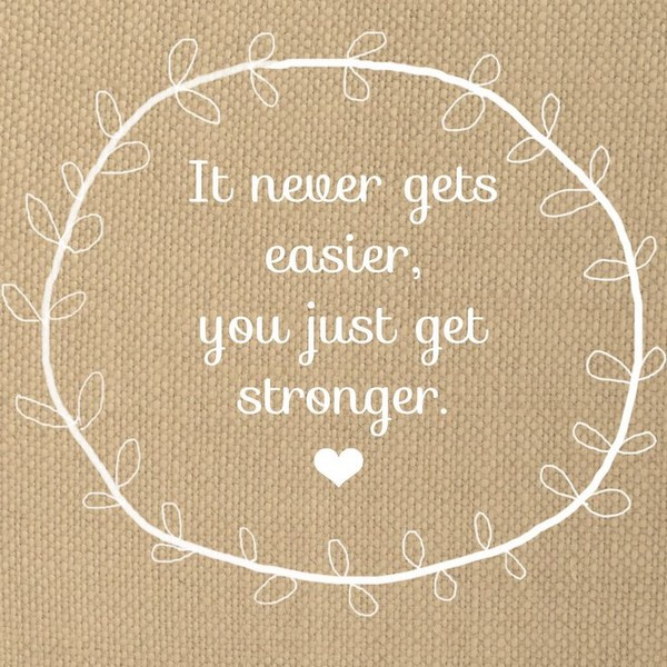 not easier - stronger