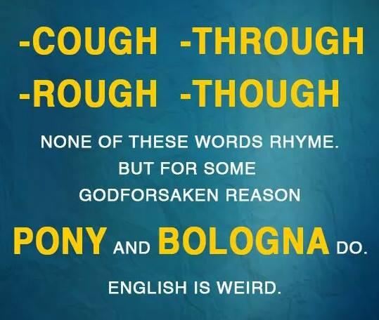 pronunciation OUGH - bologna