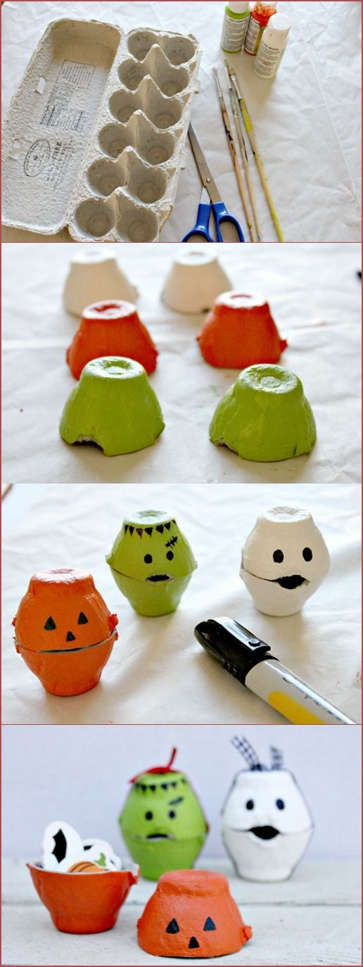Halloween eggbox craft