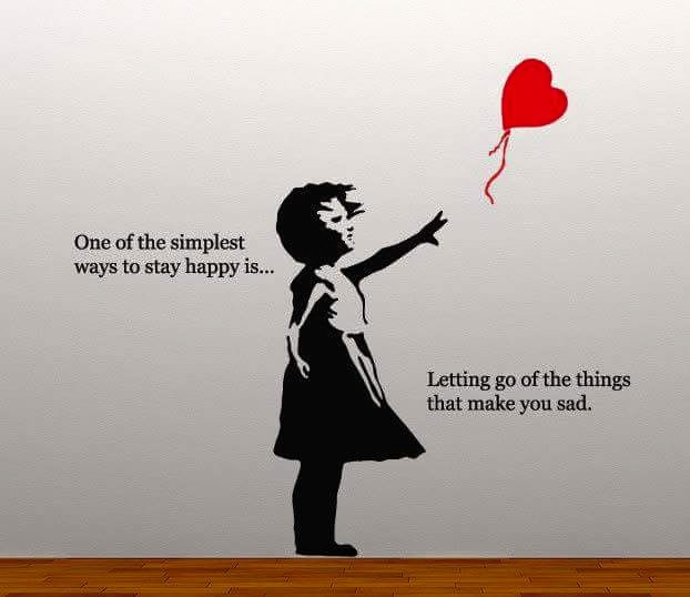 be happy letting go