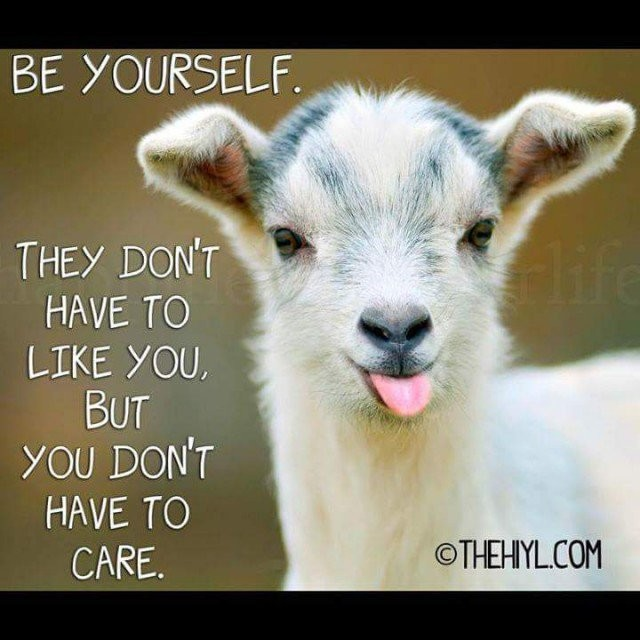 be yourself - you don't care