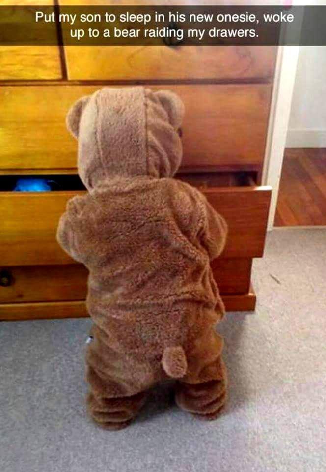 bear onesie baby