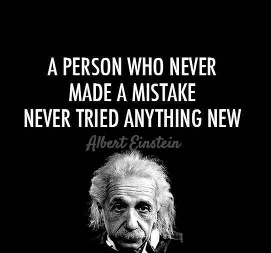 einstein mistake try new