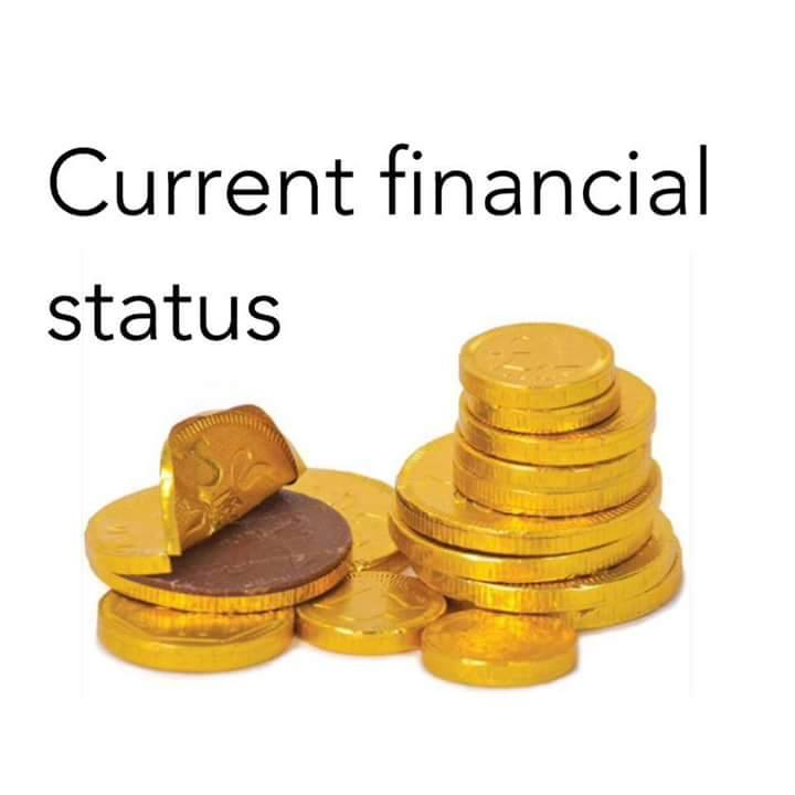 financial status chocolate coins