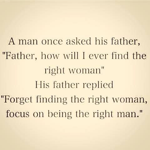 focus on being right man