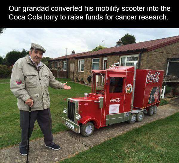 grandpa utility van coca cola