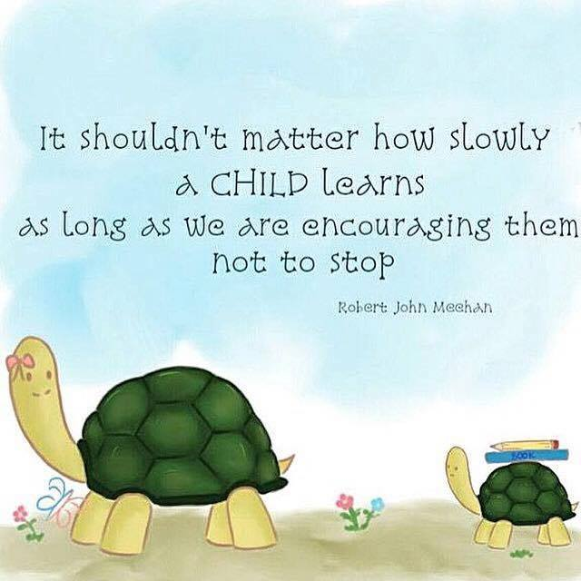 how slowly a child learn