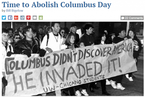 indigenous day instead of columbus