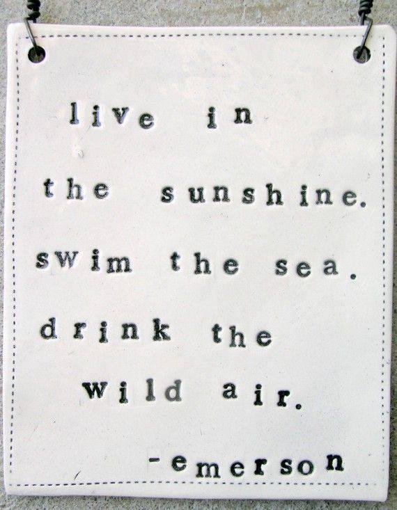 live in sunshine - emerson