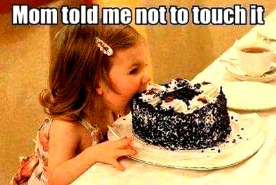 no touching cake