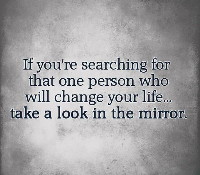 one person change your life mirror