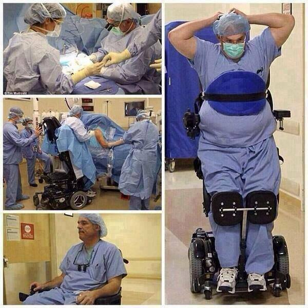 paralyzed surgeon