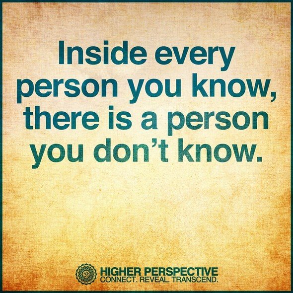 person you know do not know