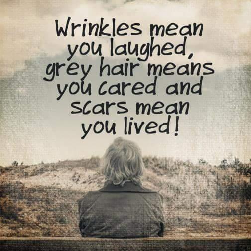 wrinkles-greay hair-scars