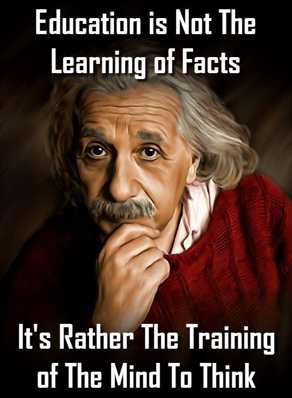education not learning - trainig - Einstein