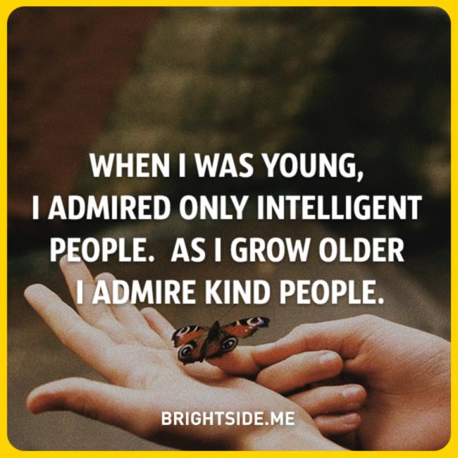 admire intelligent - kind