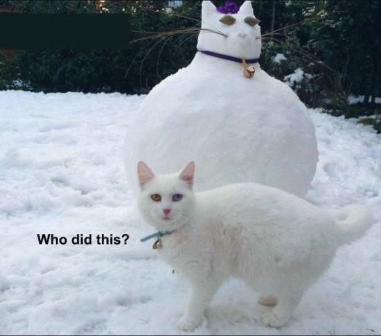 fat cat snowman