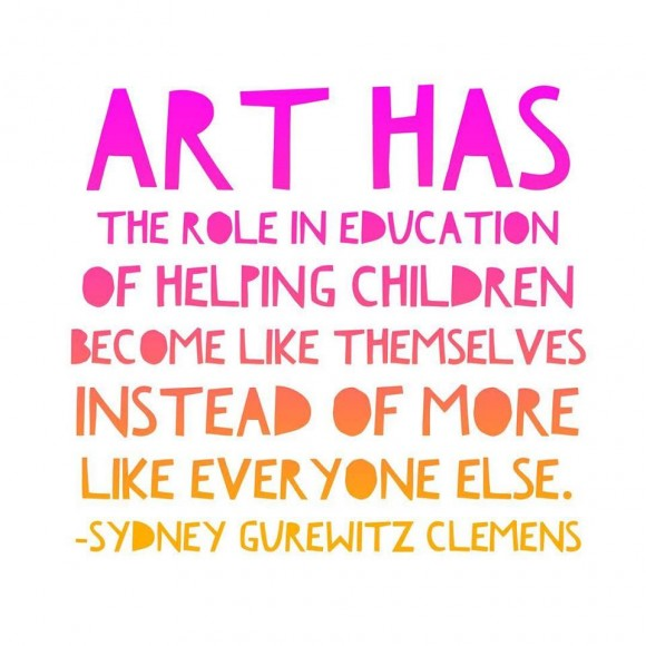 Art makes children like themselves