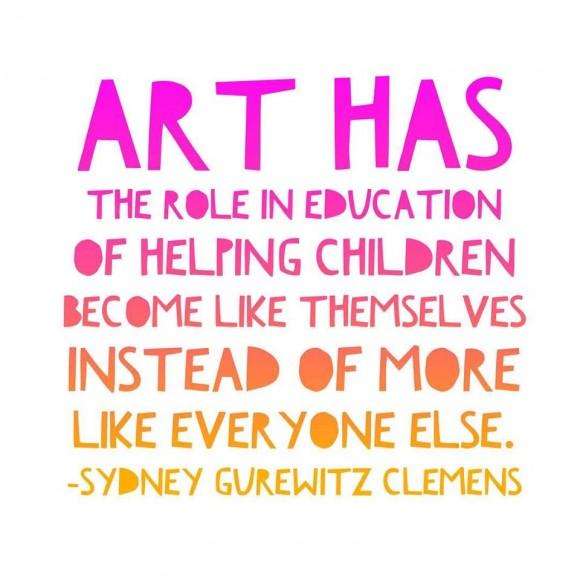 Art makes children like themselves