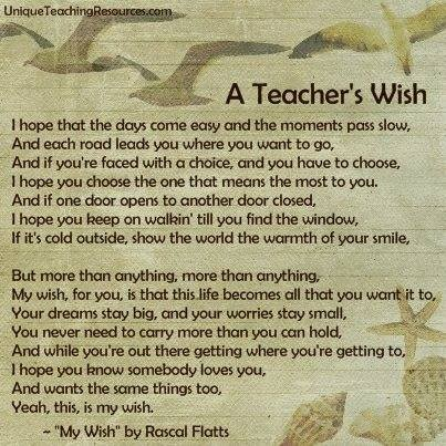 Teachers wish