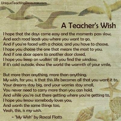 Teachers wish