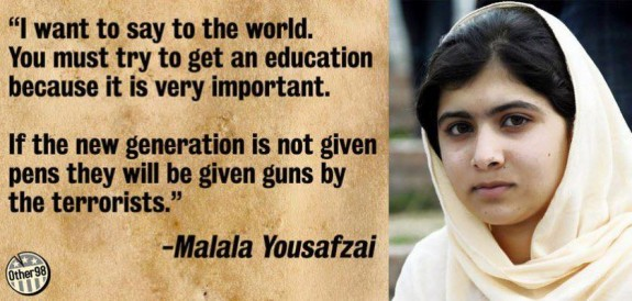 education not terrorism - Malala