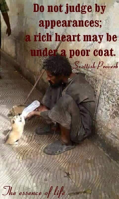rich heart - poor coat