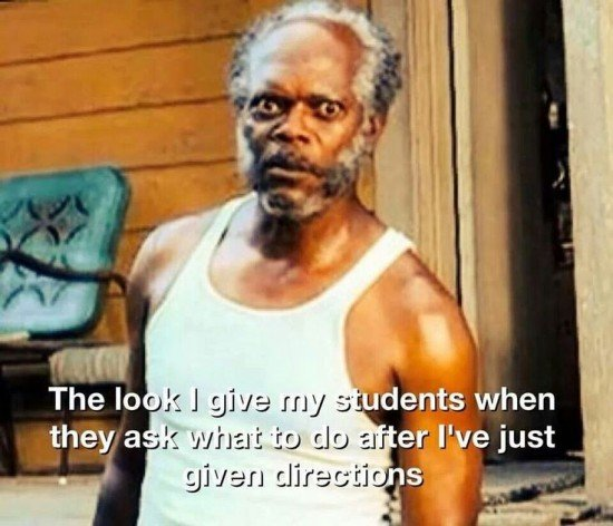 the look I give students