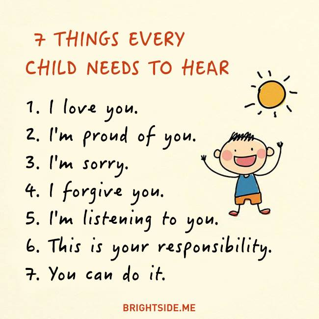 7 things child needs to hear